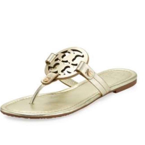 86472ad81b5a0 Tory Burch Miller Gold 8.5 Sandal